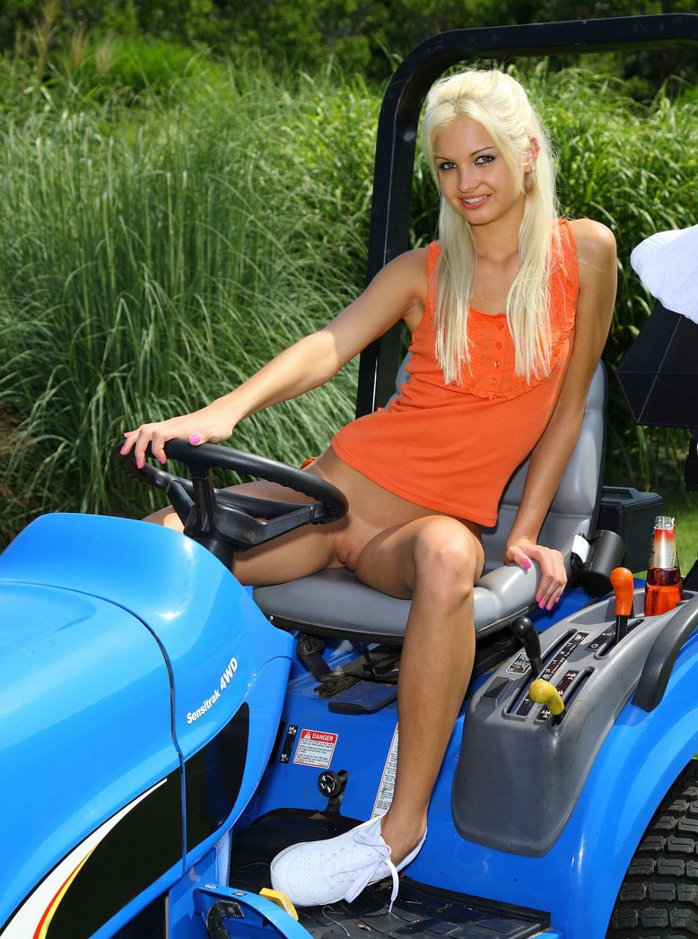 Tractor sexy babes nude