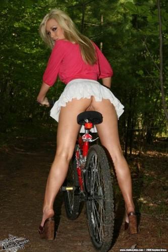 no panties biker