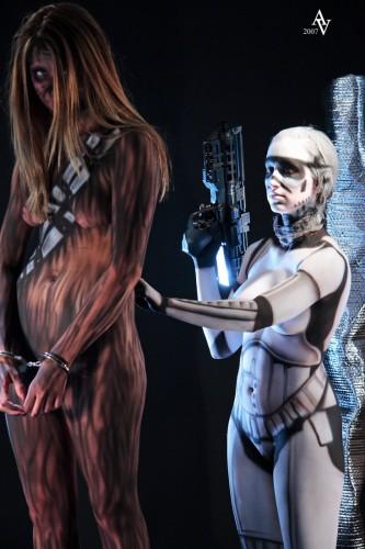 star wars body paint