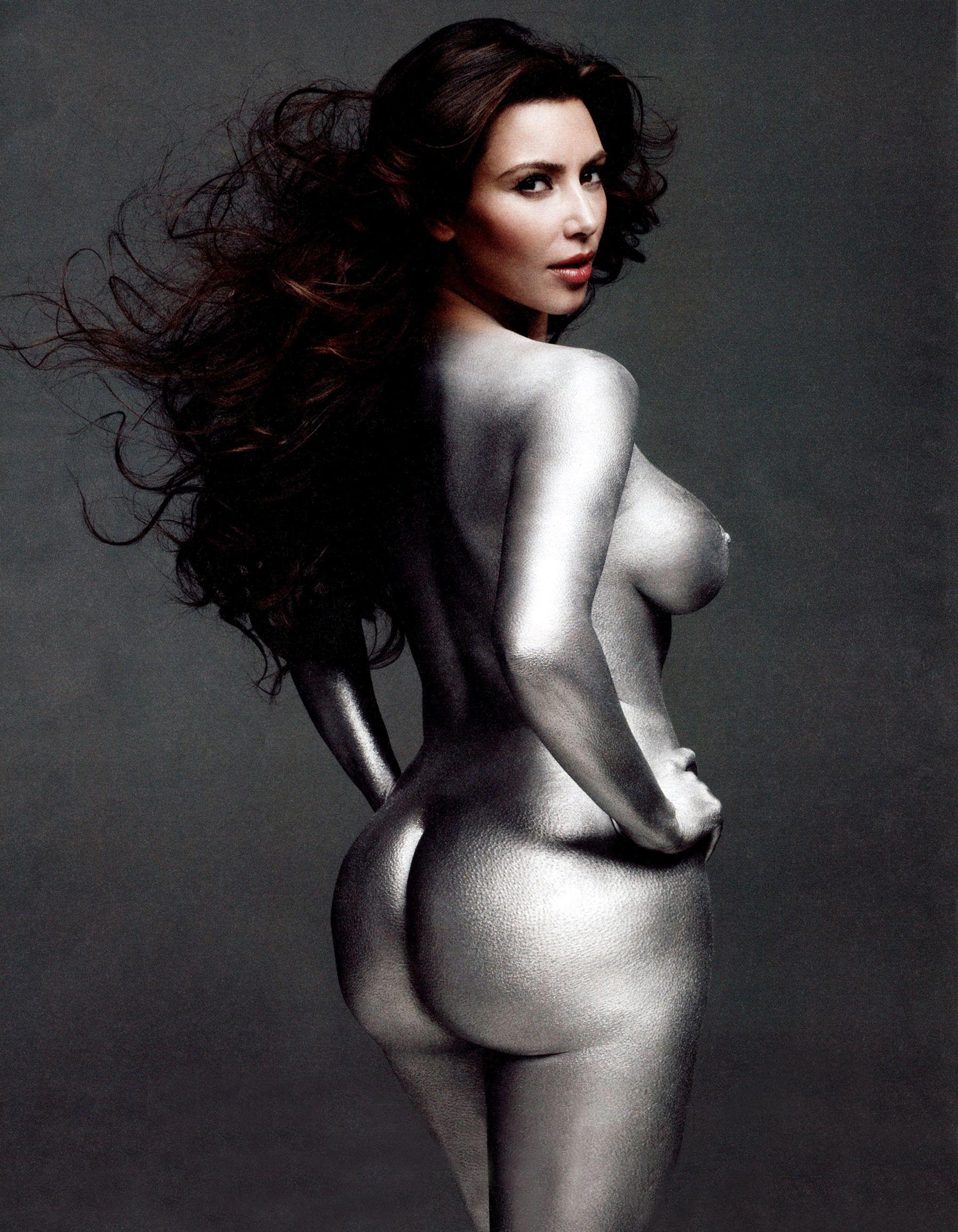 kim kardashian silver nude 2 - kim kardashian silver nude 2